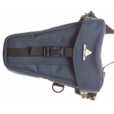 Blue Nylon water resistant camera pouch fits SLR camera DSLR with strap