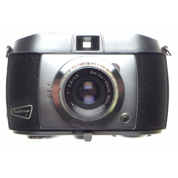 Baldessa vintage 35mm film camera Baldanar 1:2.8/45mm coated lens Prontor-SVS shutter