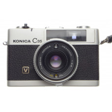 Konica C35 Hexanon 1:2.8 f=35mm V Chrome Compact film camera