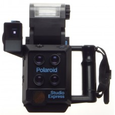POLAROID Studio Express Passport type instant film camera with polaroid back grip viewfinder