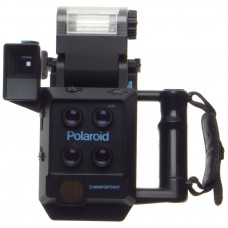 POLAROID MINIPORTRAIT instant camera shoots 4 shots at once with Pol back, flash, grip, finder