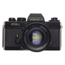 YASHICA FR1 Black 35mm film camera with Zeiss Planar 1.7/50mm T* coated vintage glass