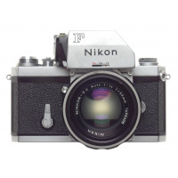 NIKON F chrome clean 35mm vintage SLR film camera NIKKOR-S.C Auto 1.4 f=50mm lens