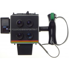 POLAROID Miniportrait instant camera shoots 4 shots at once with grip and release cable