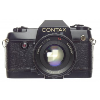 CONTAX 137 MA Quartz Zeiss Planar 1.7 f=50mm SLR vintage 35mm film camera black 1.7/50