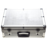Aluminum camera flight travel case with padded compartment / segments clean condition