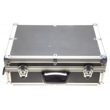 Flight case camera travel bage black chrome with original keys lock padded used condition