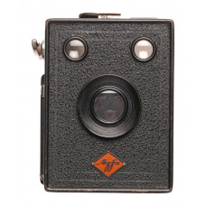Agfa vintage Box camera film format black leather