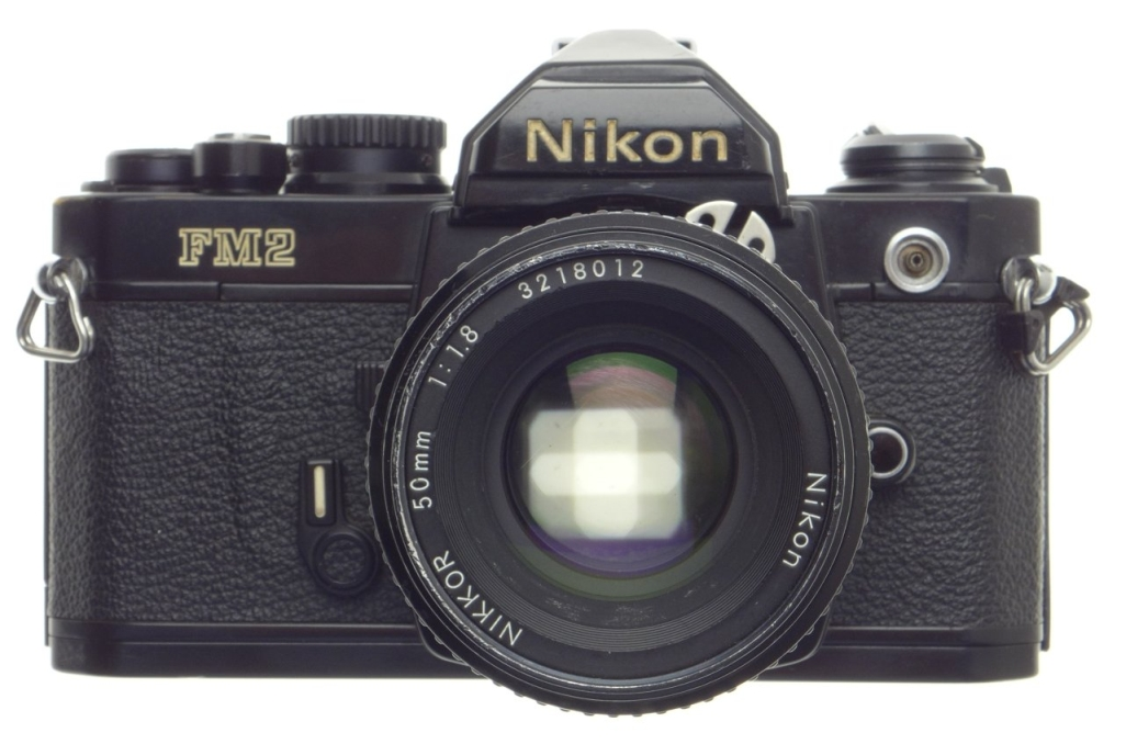 Compact Interchangeable Lens Nikon Fm2 Black Paint Slr 35mm Film